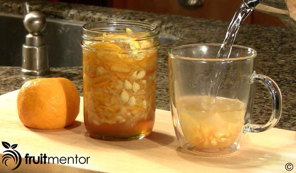 making a cup of yujacha